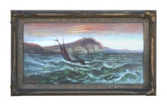 Sailing on San Francisco Bay Seascape 1890s