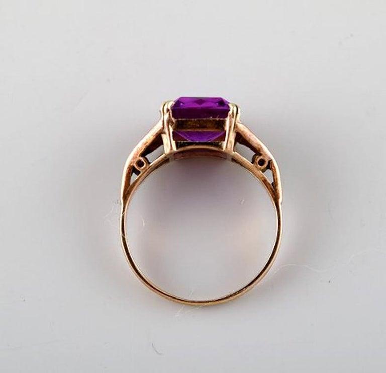 9dea7f23b4ed5 Edvard Berg, Danish Goldsmith, 14 Carat Art Deco Gold Ring