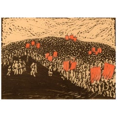 Edvard H. Swedish Artist, Lithography, Dated 1915, #15/50