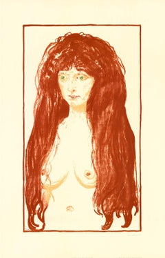 """Edvard Munch - """"The Sin"""" - unique offset print on handmade paper"""