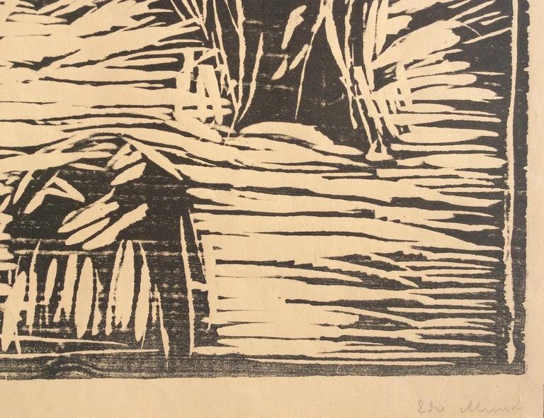 GARDEN IN SNOW - Print by Edvard Munch