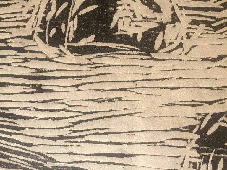 GARDEN IN SNOW - Expressionist Print by Edvard Munch