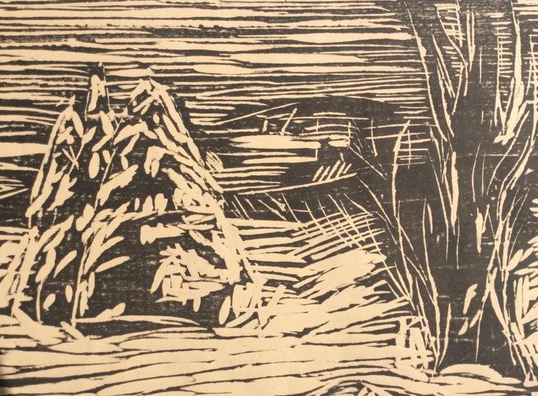 GARDEN IN SNOW - Beige Landscape Print by Edvard Munch