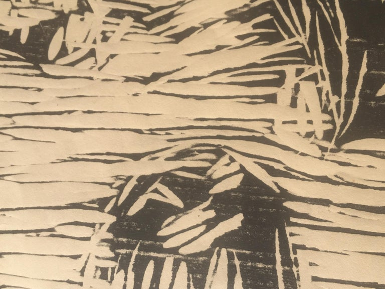 """EDVARD MUNCH (1863 – 1944)    GARDEN IN SNOW, II 1913  (WO 467: Sch. 418) Woodcut, 13 ½"""" x 16 7/8"""" signed in pencil.  Generally very good condition. Irregular sheet of simili-japan paper. 17 ½ x 21 ½"""".  Left sheet edge trimmed at an angle. Mlnor"""