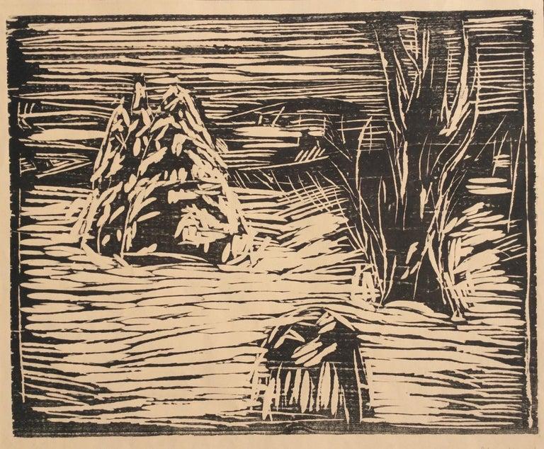 Edvard Munch Landscape Print - GARDEN IN SNOW