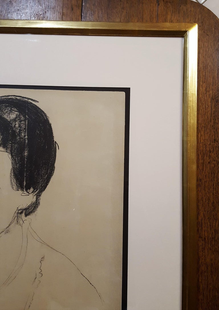 An original signed lithograph on heavy cream wove paper by Norwegian artist Edvard Munch (1863-1944) titled