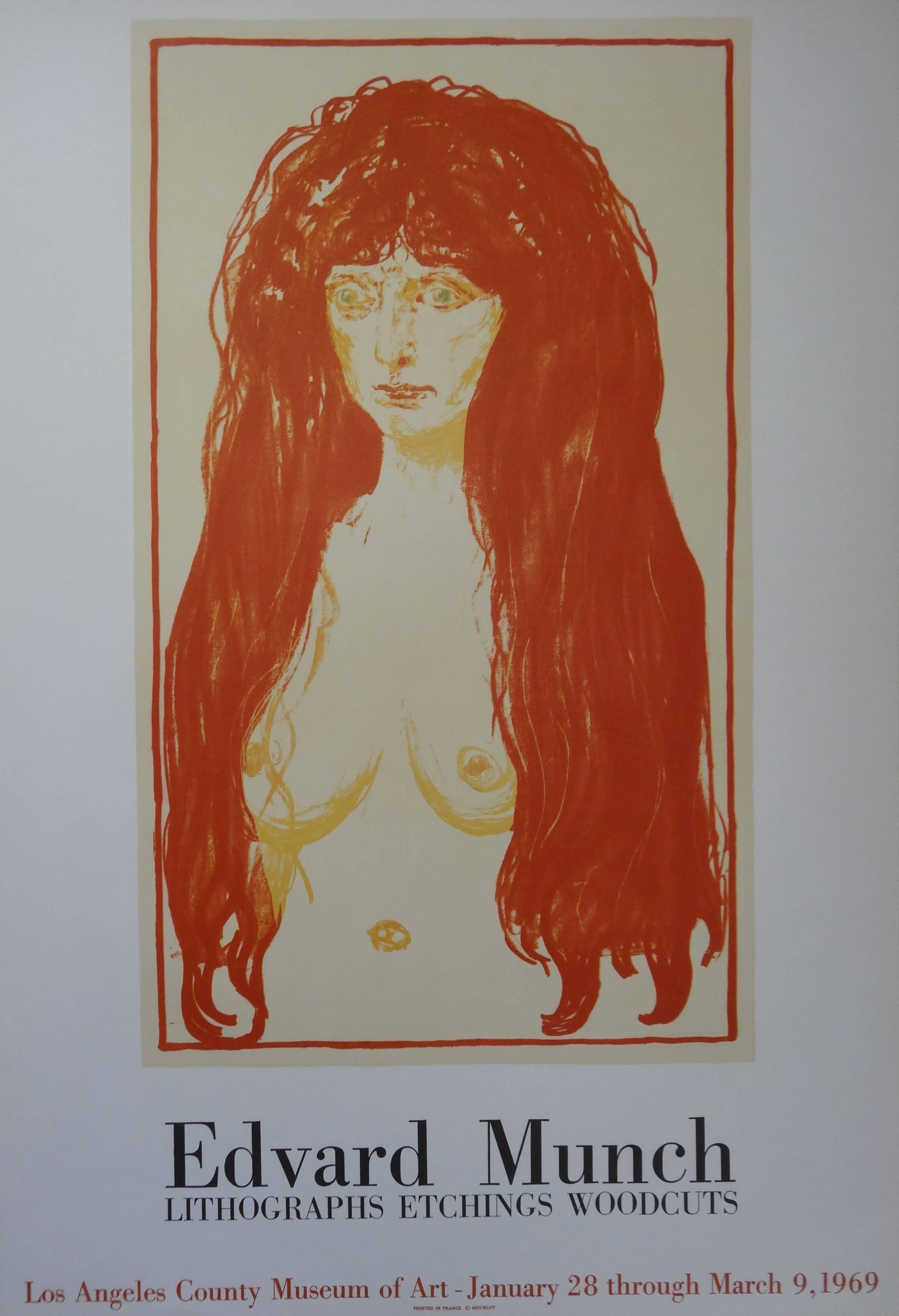 Redhead Woman - Exhibition Poster - Los Angeles County Museum