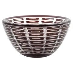 """Edvin Öhrström """"Ariel"""" Glass Bowl for Orrefors"""
