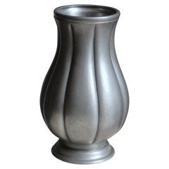 Edvin Ollers, Vase, Cast Pewter, Schreuder & Olson, Sweden, 1952
