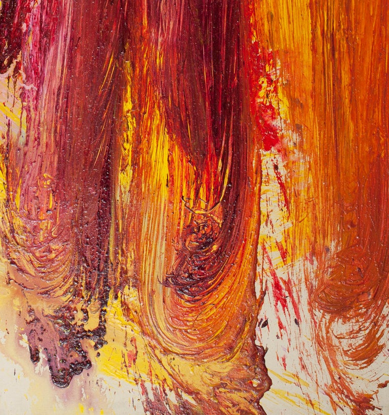 One Time Only - Abstract Expressionist Painting by Edvins Strautmanis