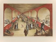 Shelter Scene During the London Blitz