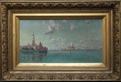 Venetian Lagoon - American/British Victorian art marine oil painting Italy