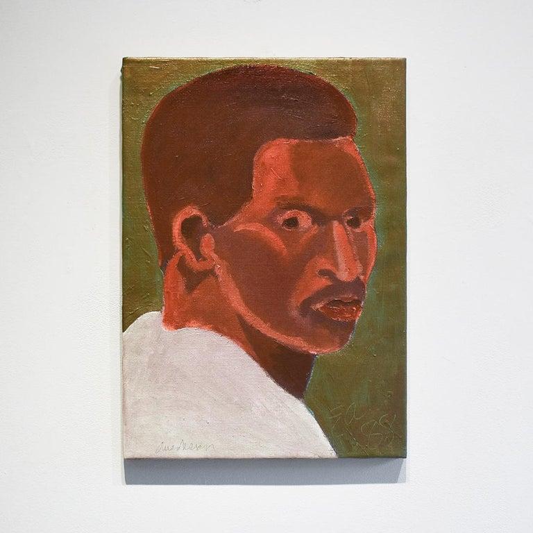 Portrait of Dave Winfield, American Major League Baseball Right Fielder - Painting by Edward Avedisian