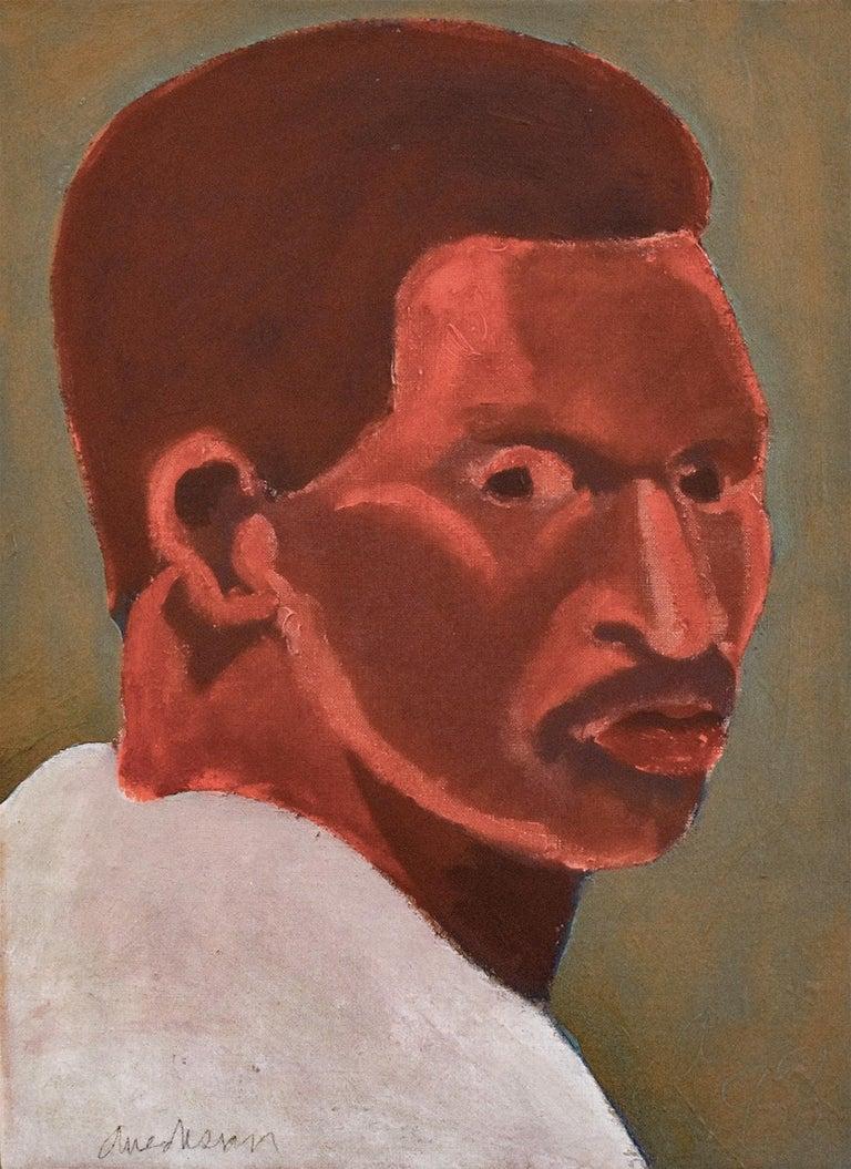 Edward Avedisian Figurative Painting - Portrait of Dave Winfield, American Major League Baseball Right Fielder