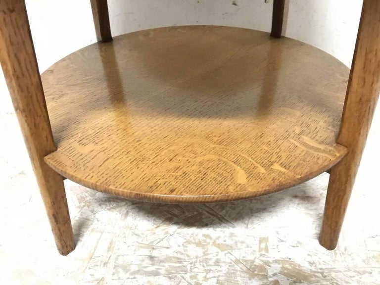 Arts and Crafts Edward Barnsley, An Arts & Crafts Oak Two-Tier Circular Coffee or Side Table For Sale