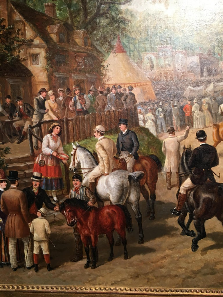 Edward. B. Herberte  Edward Benjamin Herberte was an English sporting and animal painter from the last half of the 19th century. He mostly painted fox hunting scenes but for special commissions he painted horse fairs and horse racing subjects. This