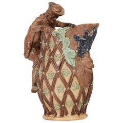 Edward Bingham Castle Hedingham Medieval Inspired Art Pottery Jug, 19th Century
