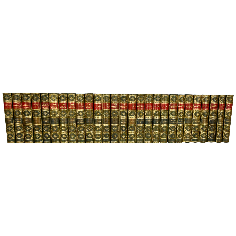 Edward Bulwer-Lytton Leather Bound Set of Novels in 27 Volumes