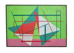 1940s American modernist painting by Edward Corbett