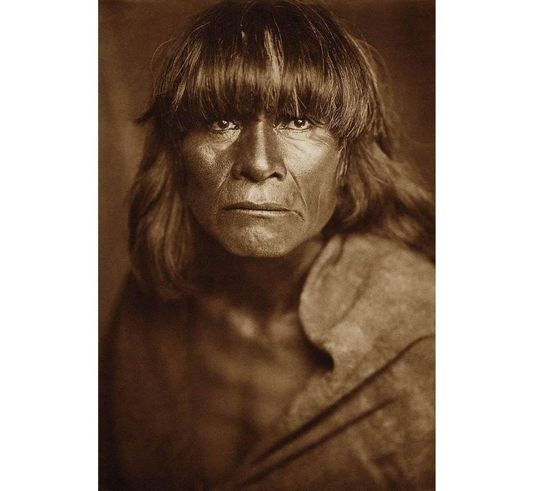 Edward Curtis Black and White Photograph - A Hopi Man