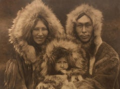 Edward Curtis, A Family Group - Noatak, Plate 717, Photogravure