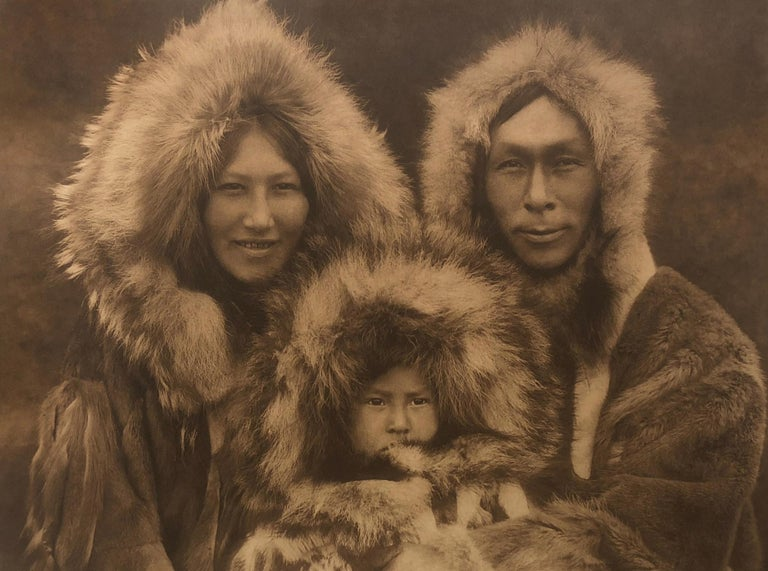 Edward Curtis, A Family Group - Noatak, Plate 717, Photogravure - Photograph by Edward Curtis