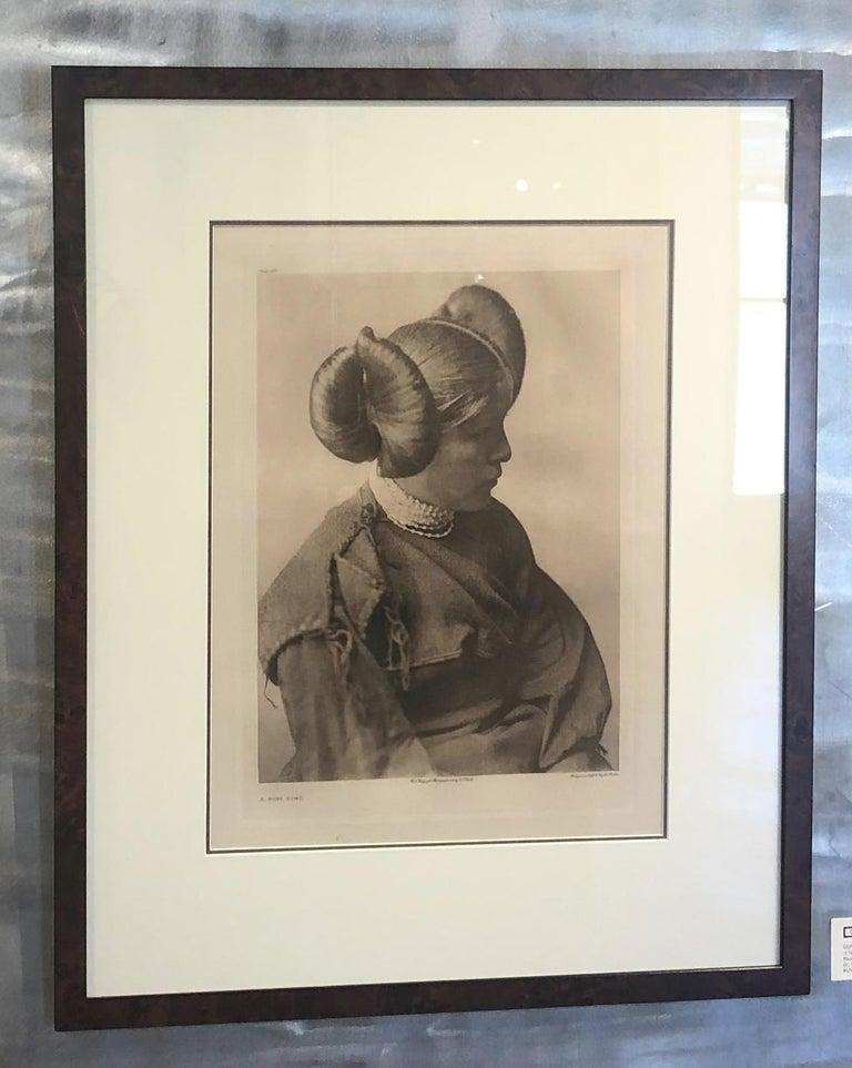 Edward Curtis. A Hopi Girl, Plate 406, Photogravure on Holland Van Gelder paper.  Plate 406. Paper size 22 x 18