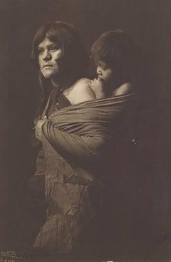 Edward Curtis, A Hopi Mother, Plate 403, Photogravure on Holland van Gelder
