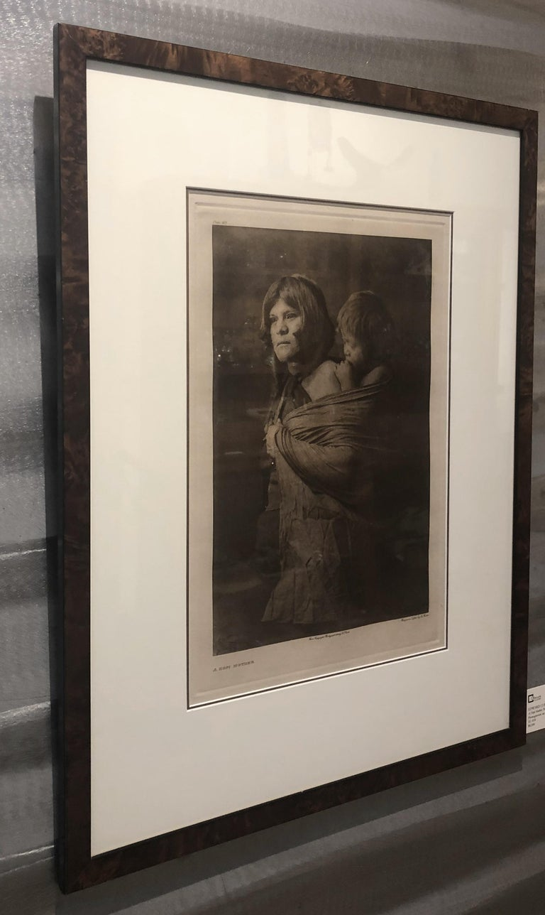Edward Curtis, A Hopi Mother, Plate 403, Photogravure on Holland van Gelder For Sale 1