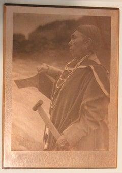 Edward Curtis, Kamagwaih Cascade, 1910, original copper plate, Volume 12