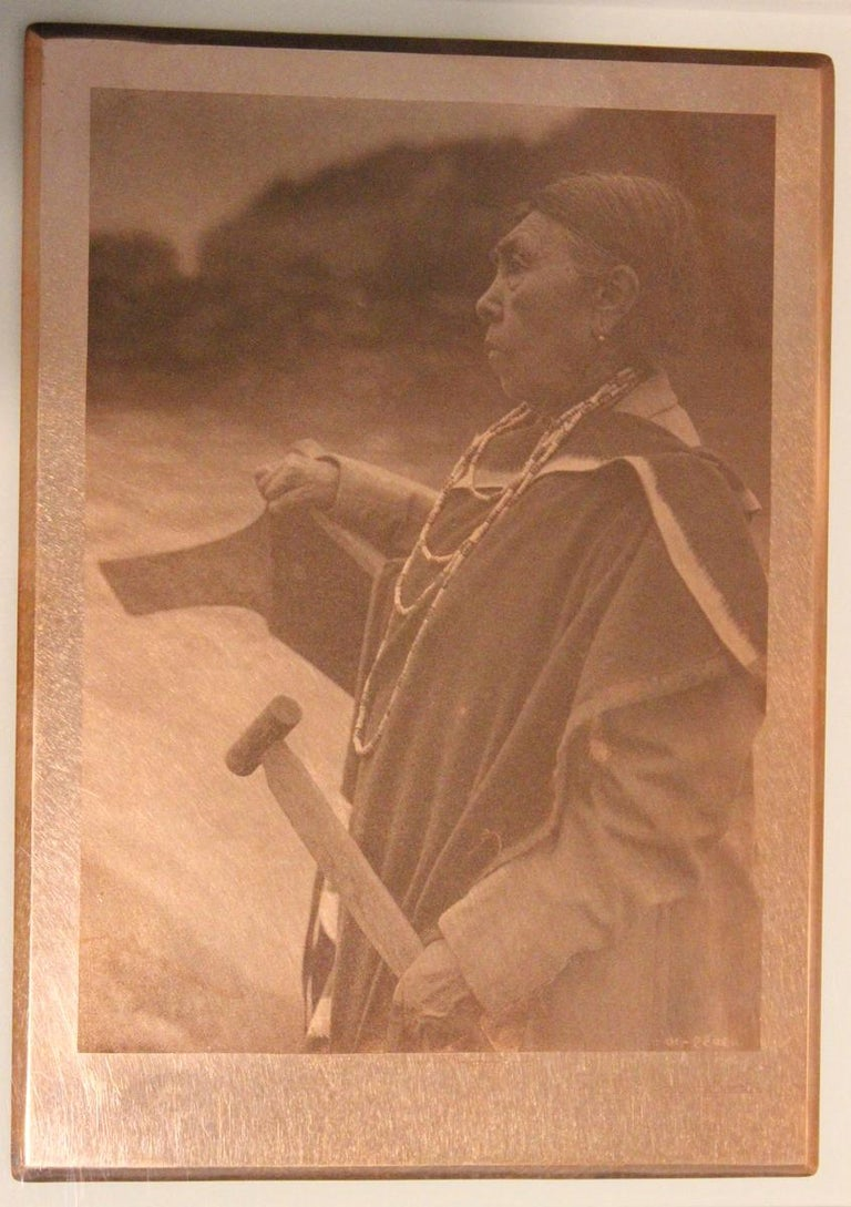 Edward Curtis, Kamagwaih Cascade, 1910, original copper plate, Volume 12 - Photograph by Edward Curtis