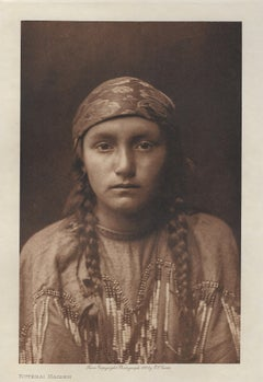 Edward Curtis, Kutenai Maiden, 1908, Photogravure