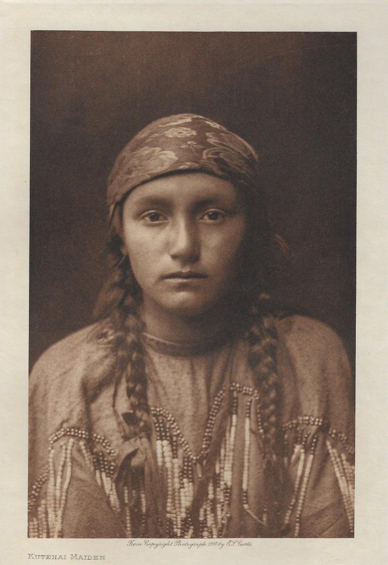 Edward Curtis, Kutenai Maiden, 1908, Photogravure - Photograph by Edward Curtis