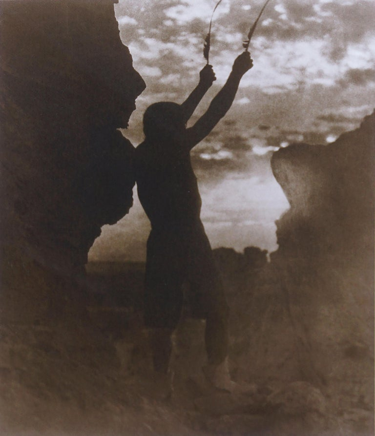 Native American War Chief -- Offering To The Sun: San Ildefonso  - Print by Edward Curtis