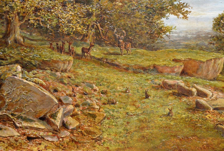 Bradgate Park, Leicestershire - 19th Century Oil Painting - Royal Academy 1880 For Sale 2