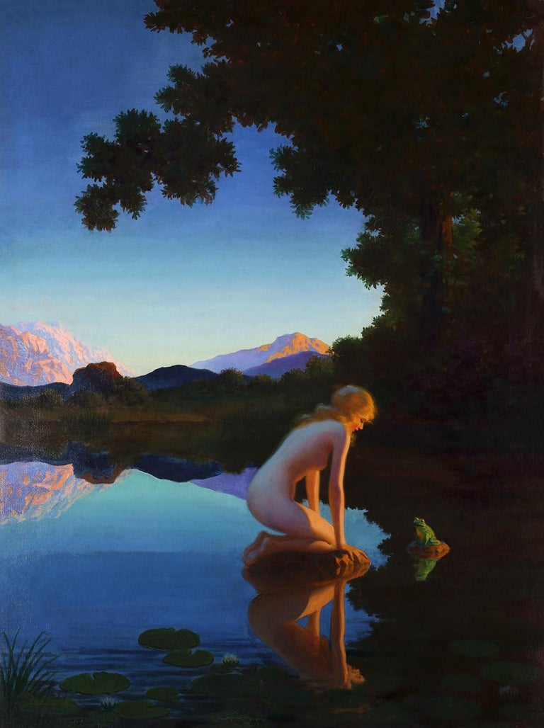 Edward Eggleston Figurative Painting - Nymph and the Frog
