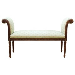 Edward Ferrell Neoclassical Revival Style Bench