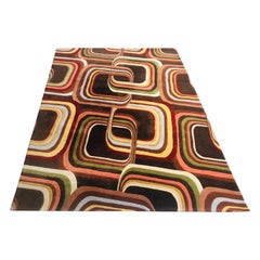 Edward Fields Style Large Sculpted Modern Area Rug Carpet, 9' by 12'