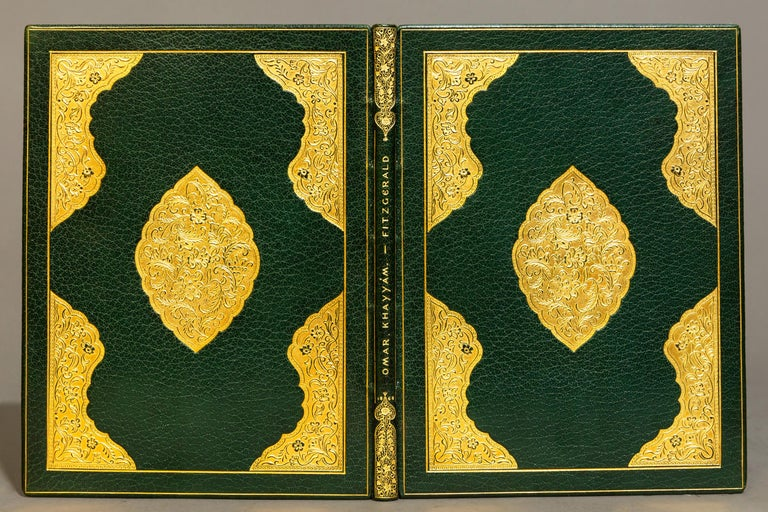 """1 Volume  """"Second Edition"""" Exquisitely Bound in full green Morocco by Zaehnsdorf, ornate gilt on covers and spine.  Published: London: Bernard Quaritch 1868 in a soft leather pouch.  Handsome and fine copy."""