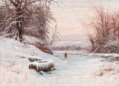 A Walk in Winter by Edward Gay (American, 1837-1928)