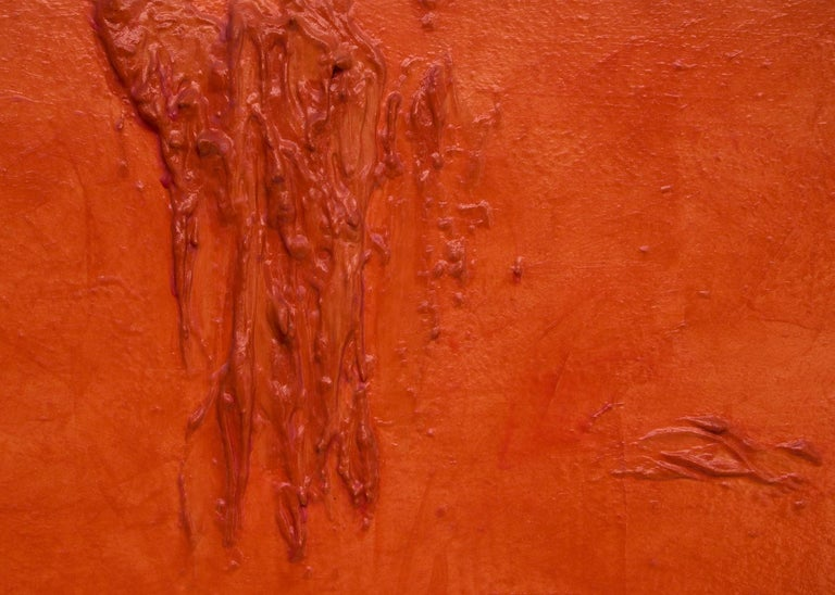 Orange (large abstract composition) For Sale 1