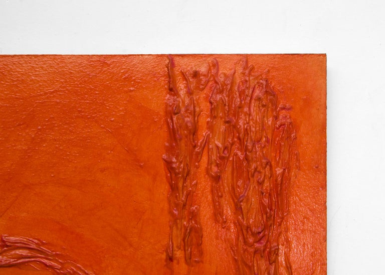 Orange (large abstract composition) For Sale 2