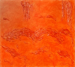 Orange (large abstract composition)
