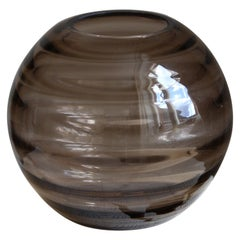 Edward Hald, Vase, Smoked Blown Glass, Orrefors, Sweden, 1930s