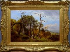Gathering Kindling - Fine 19th Century English Coastal Landscape