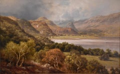 "Oil Painting by Edward Henry Holder ""Scene in the Lake District"""