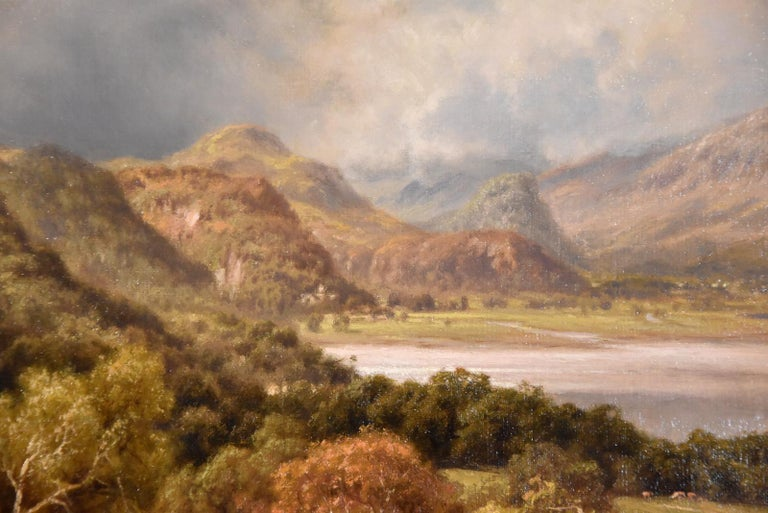 """Oil Painting by Edward Henry Holder """"Scene in the Lake District"""" For Sale 2"""
