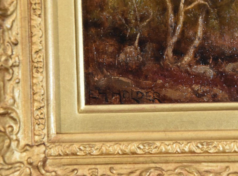 """Oil Painting by Edward Henry Holder """"Scene in the Lake District"""" For Sale 3"""