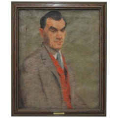 Early 20th Century Male Oil Portrait by Edward Henry Potthast c.1920