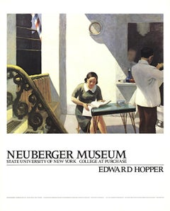 "Edward Hopper-The Barber Shop-30"" x 24""-Poster-1981-Realism"